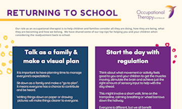 Returning to School: An OT Informed Guide for Parents