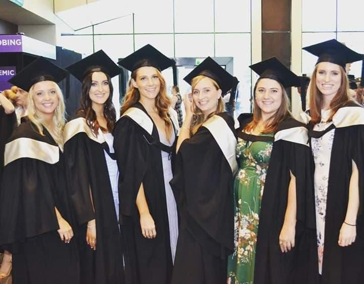 Brooke Tunks (third from the right) graduating with her future colleagues