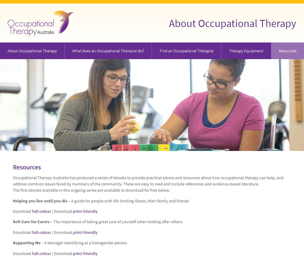 About Occupational Therapy